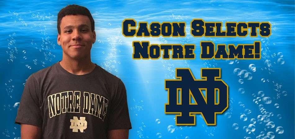 Cason Wilburn selects Notre Dame swim team