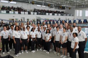 Officials of the Black History Invitational Swim Meet