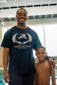 Black Kids Swim Razor Aquatics competitive swimmer